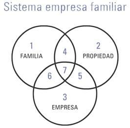 Sistema empresa familiar -  tres círculos de Davis – Tagiuri