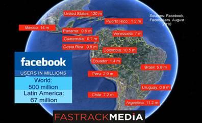 Usuarios de Facebook a nivel mundial en Facebakers