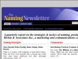 NamingNewsletter.com :: Reporte trimestral sobre estrategias y tacticas de ponerle nombre a productos o empresas