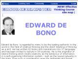 EdwardDeBono.com :: Pagina oficial de De Bono, maxima autoridad en el campo de pensamiento creativo y en la enseñanza del pensamiento como habilidad