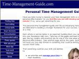 Time-Management-Guide.com :: Extensa guia para el manejo del tiempo, con articulos y recomendaciones practicas