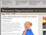 Business Opportunities Blog en español :: Bitácora sobre oportunidades de negocios legítimas para emprendedores. Escrito por Dane Carlson, traducido y mejorado por Jacky Benzaquen