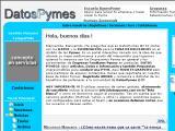 DatosPymes.com.ar :: Portal interactivo con la idea de que alcance su mejor performance a partir del intercambio entre Empresarios Pymes en general y los provenientes de Empresas Familiares en particular
