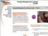 Change Management Learning Center :: Portal de recursos para manejar el lado humano del cambio. Ofrece adiestramiento, libros, artículos, tutoriales, benchmarking y mas