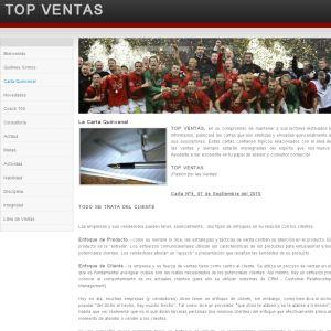 TopVentasChile.com :: P�gina con informaci�n sobre Venta Consultiva y Herramientas de Venta