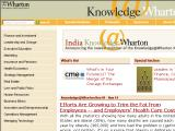 Knowledge @ Wharton :: Revista en linea quincenal publicada por la escuela de negocios Wharton, con ideas, investigacion e informacion de varias fuentes